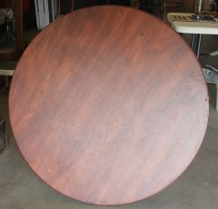 "Samsonite 40"" Round Brown Folding Table"