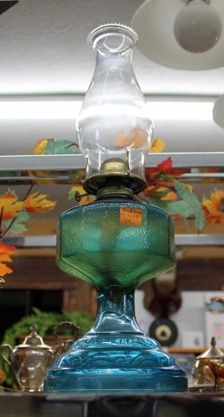 Blue Green Oil Lamp