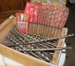 Auger Drill Bits Big lot mixed sizes