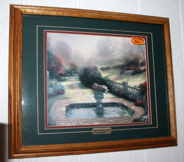 """Gardens Beyond Autumn Gate"" by Thomas Kinkade Framed Print"