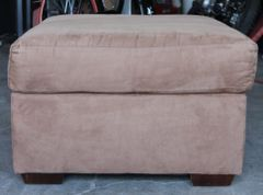 Brown Micro Suede Ottoman
