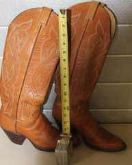 Justin High Top Western Cowgirl Boots-6 1/2 B