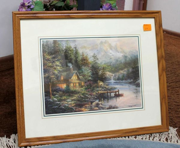 Wood Framed Cabin Print