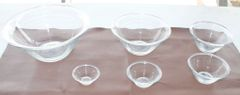 6 Peice Glass Bowl Set by Duralex