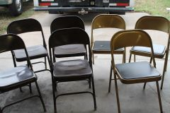 FOLDING CHAIRS - Metal, some padded