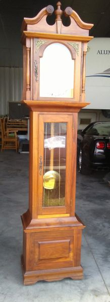 Vintage 1978 Emperor Grandfather Clock Handcrafted by Irving Red Clip