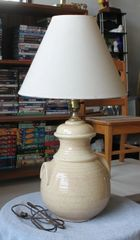 Tan Pottery Lamp