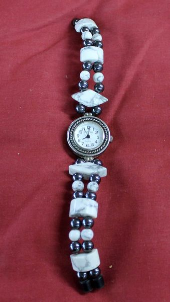 Stone and Black Onyx? Magnetic Beaded Watch
