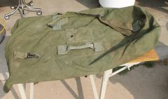 Green Canvas Military Duffel Bag / Backpack
