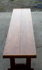 Six Foot Solid Oak Bench