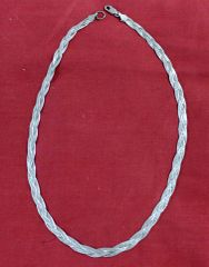 "18"" Braided Silver Necklace"