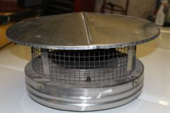 """8"""" Wood Stove Stainless Steel Chimney Cap"""