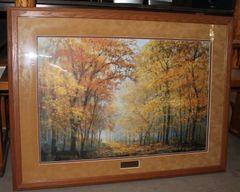 """Autumn Solitude"" Framed Picture by Peter Ellenshaw Christ-Centered Art"