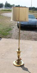 Heavy Base Brass Floor Lamp w/ Shade