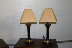 "Pair 27"" Side Table Desk LAMPS"