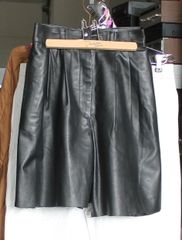Bagatelle Black Leather Cut Off Shorts-Size 4