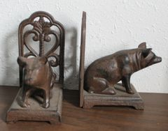 Heavy Metal Pig Bookends