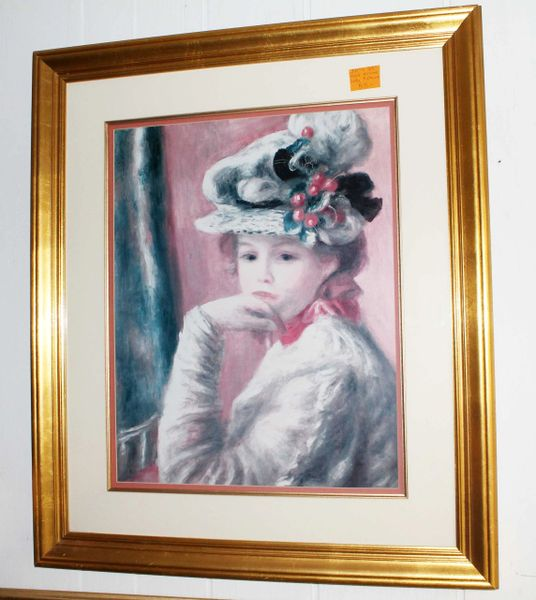 Gold Framed Lady Print