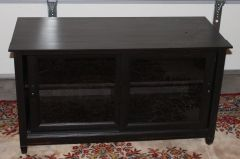 Ebony Color WOOD TV STAND