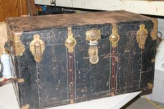 Vintage Metal Storage Steamer Trunk
