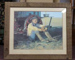 "Snidow Coors Series ""Chuck Wagon""-1982 Original Signed & Framed Print"