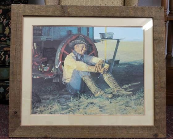 "Snidow Coors Series ""Chuck Wagon""-1982 Original Signed & Framed Print"