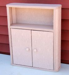 Vintage Bathroom Wicker Style 2 door Cabinet