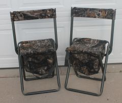 Aluminum Frame Camo Fold Up Chairs w/ Zippered Storage