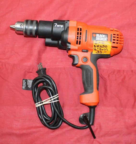 "Black and Decker DR 650 1/2"" Electric Drill"