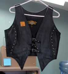 Universal Rider XL Black Leather Vest