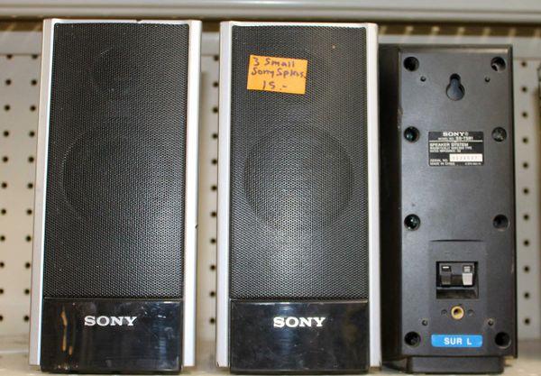 3 Small Sony Speakers