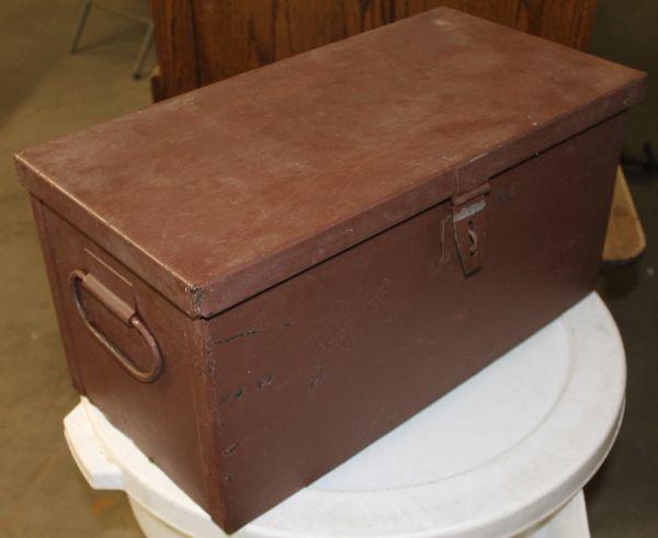 Heavy Metal Locking Storage Box