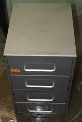 Grey Metal 4 Drawer File Cabinet