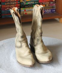 Frye Authentic White Cowboy Boot-6 1/2 C