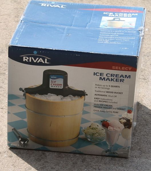 Rival 8550-X Electric Ice Cream Maker-LIKE NEW