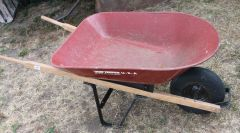 True Temper USA 4 Cu.Ft. Wheelbarrow w/ Steel Tub