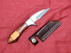 "Wood Handle Knife w/ 2 3/4"" Blade & Sheath"