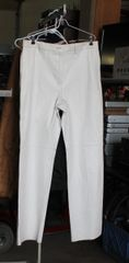 White Leather Ladies Pants