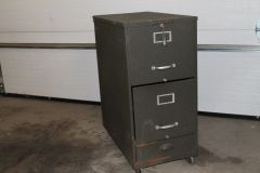 2 Drawer Top Open FILE CABINET wheeled w/Key