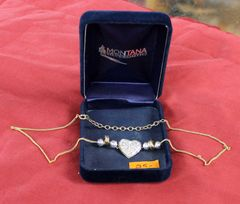 Montana Silversmiths Heart and Beads Necklace
