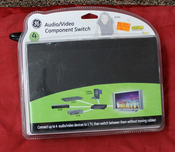Audio/Video Component Switch-connect 4 devices to 1 TV
