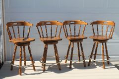 Set of Maple Bar Stools