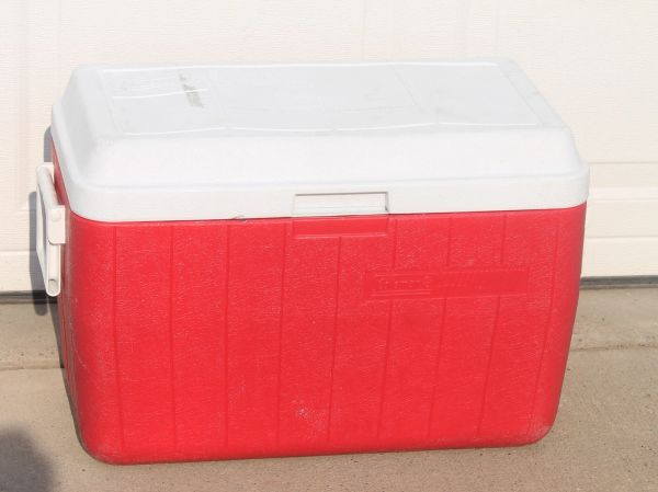 Red Trunk Cooler / Ice Chest