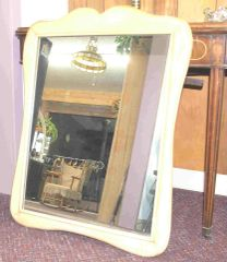 Vintage Mirror with Wood Frame