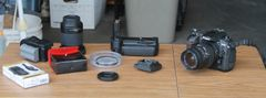 Nikon D200 10.2MP Digital SLR Camera with 2 Lenses and Accessories