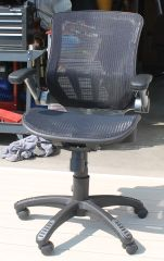 Modern Black Mesh and Silver Office Desk Chair
