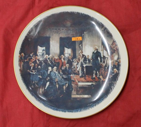 Signing the Declaration of Independence Collector Plate