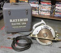 "Vintage Black and Decker 8"" H.D. Circular Lectro-Saw"