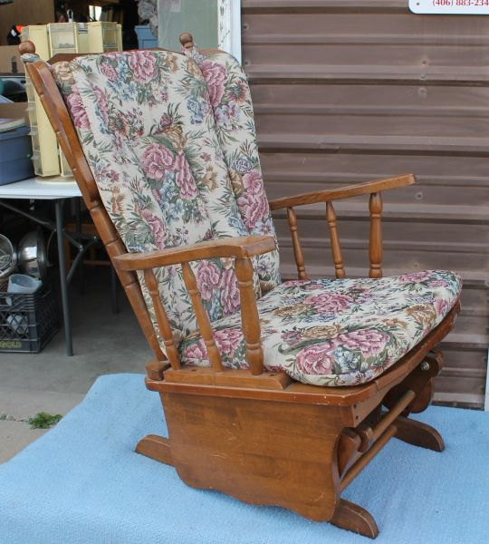 Glider / Rocking Chair with Floral Pattern