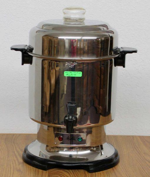 Melitta Stainless Steel Commercial Percolator Coffee Maker